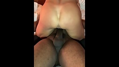 Squirting on a big black cock