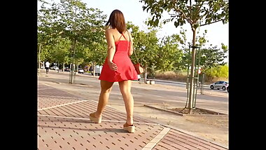red short dress - very hot pawg