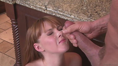 Peter North cumshot on lucky redhead