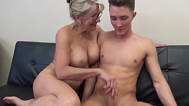 Stunning MILF with Big Boobs Gets Fucked by Teen