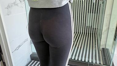 Asian Girlfriend in Leggings