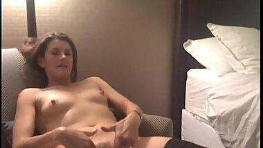 sexy business woman in her hotel room